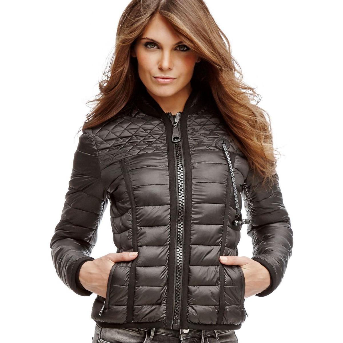 527650f87764 Marciano Guess Veste graphique zippée Blanc et noir Femme,boucle guess,comparez  les prix. Guess - Doudounes jeans w74l65 doris blanc XS - pas cher Achat ...